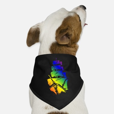 Pirate Ship in LGBT flag - Dog Bandana