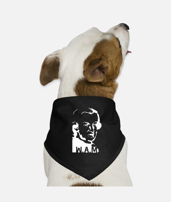 Piano Bandanas - Mozart, white - Dog Bandana black