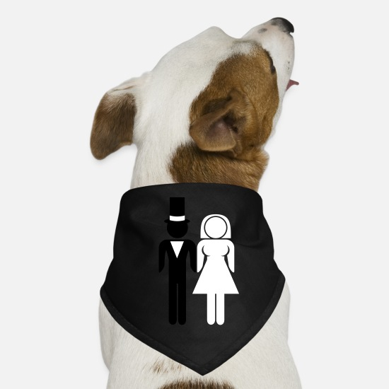 Bride Bandanas - Marriage Couple - Dog Bandana black