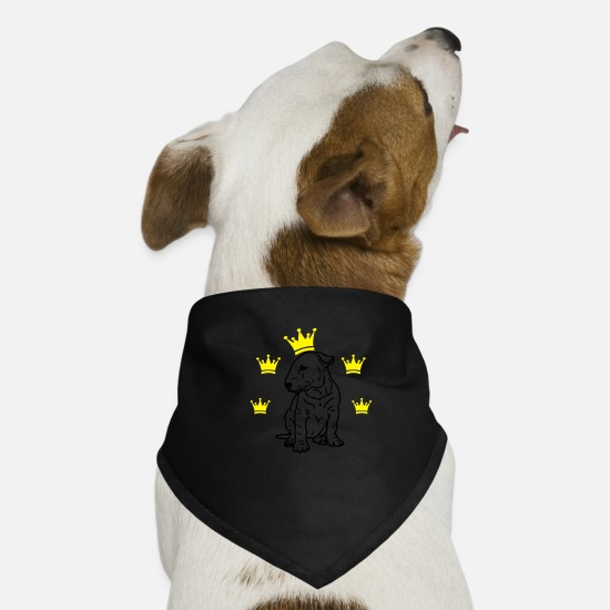 Heart Bandanas - Bull terrier © www.dog-power.nl - Dog Bandana black