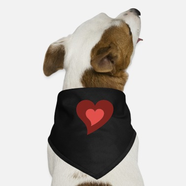 Print Two Hearts heart in heart - Dog Bandana