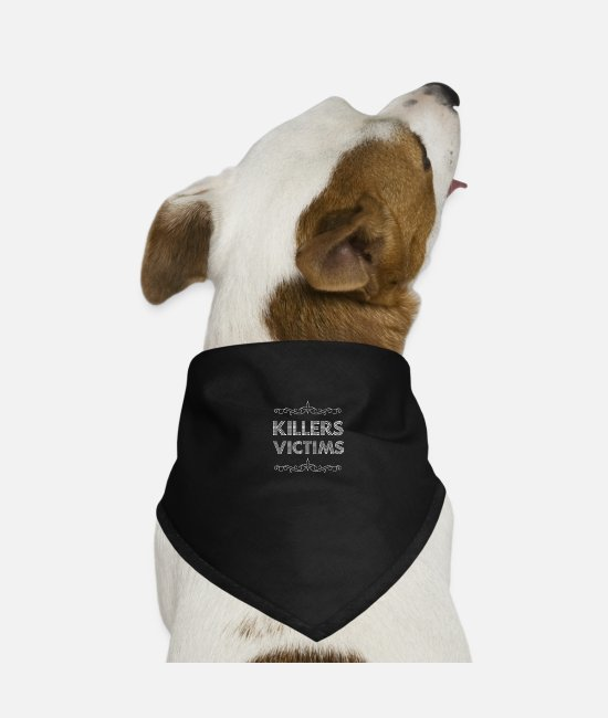 Victims Bandanas - Killer victims 05 - Dog Bandana black