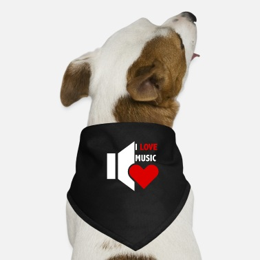 I Love Music I love music - Dog Bandana