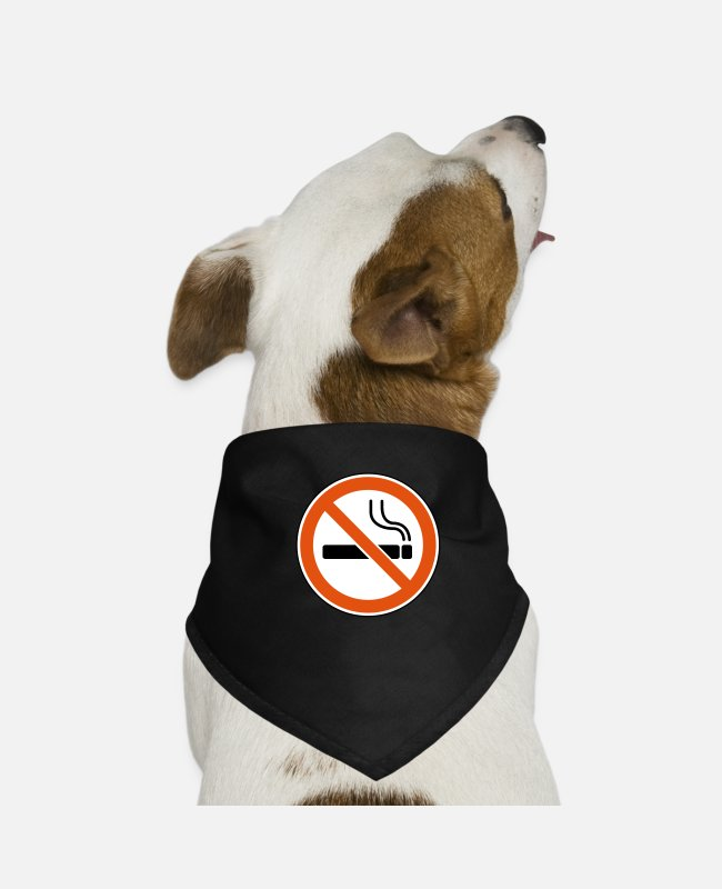 Nature Bandanas - No smoking - Dog Bandana black