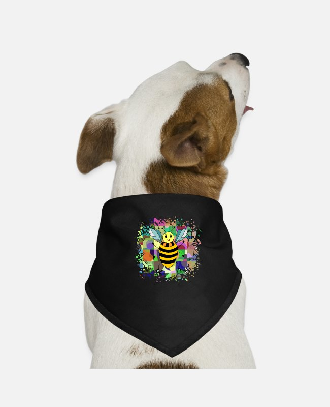 Nature Bandanas - Insect - Dog Bandana black