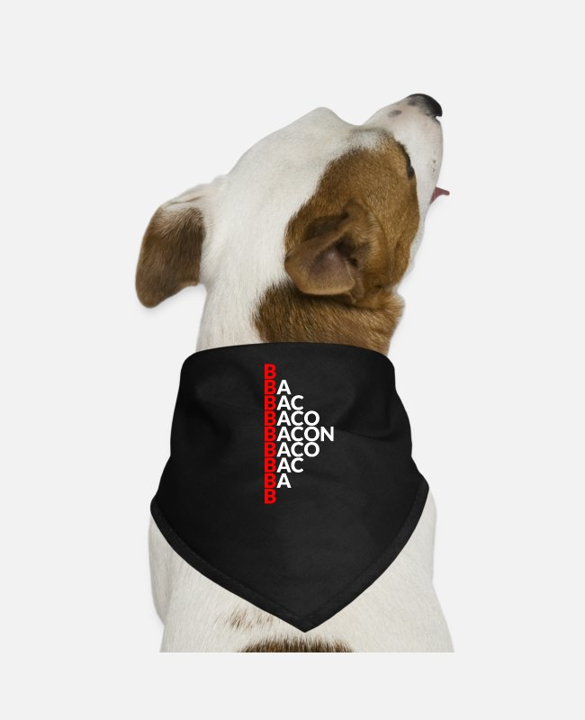 BBQ Bandanas - Bacon / man / bacon / gift - Dog Bandana black