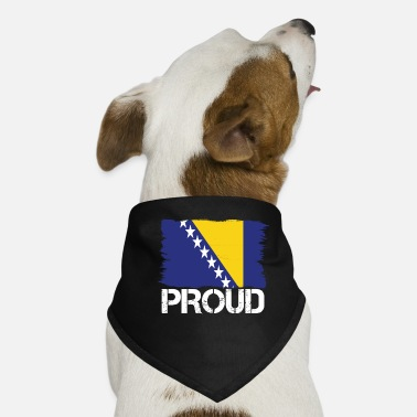 Bosnien Pride flag flag home origin Bosnia and Herzegovina - Dog Bandana