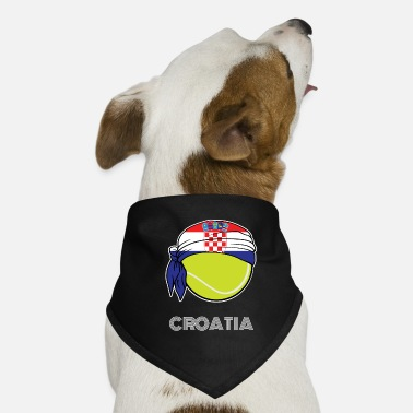 Croatia Mens Tennis Top for Croatian Players, - Dog Bandana