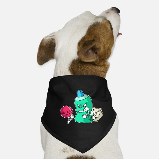 Gift Idea Bandanas - Dentist Funny - Dog Bandana black