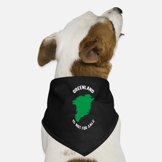 Trump Bandanas - Greenland Is Not for Sale Anti Trump / GREENLAND - Hunde-Bandana Schwarz