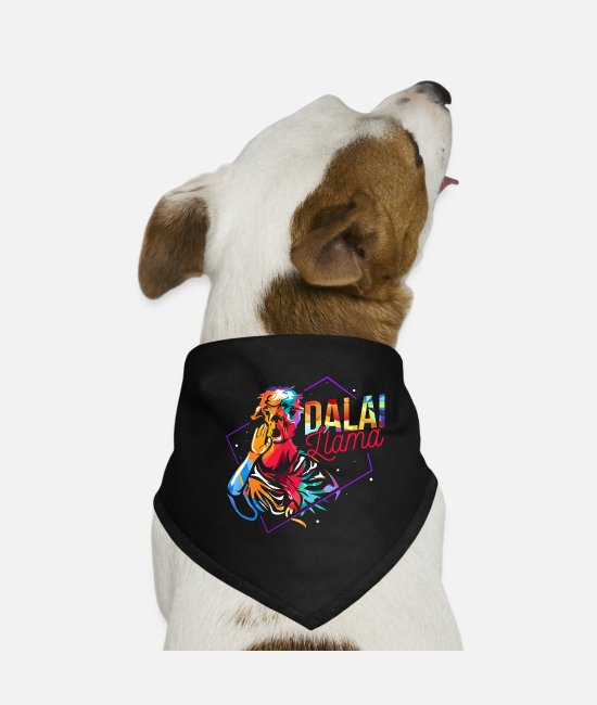 South America Bandanas - Dalai Lama monk - Dog Bandana black