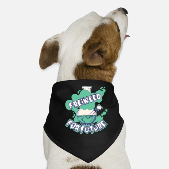 Cannabisblad Bandanaer - Freiweed for Future Bong - Bandana til din hund sort