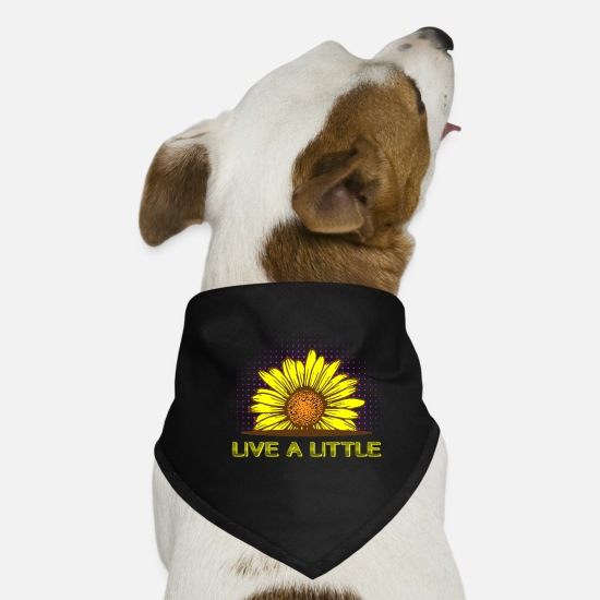 Love Bandanas - Live a Little - Dog Bandana black