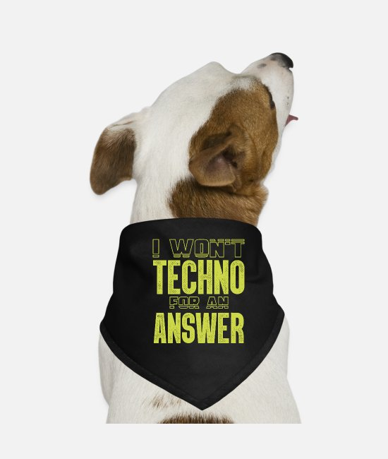 Music Bandanas - Techno - Dog Bandana black