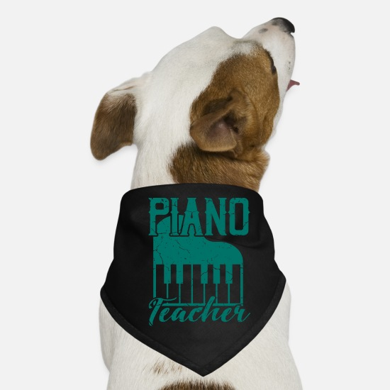 Gymnasium Bandanas - PIANO TEACHER gift for piano teacher - Dog Bandana black