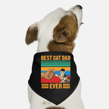 Domestic Cat Best Cat Dad Ever - Dog Bandana