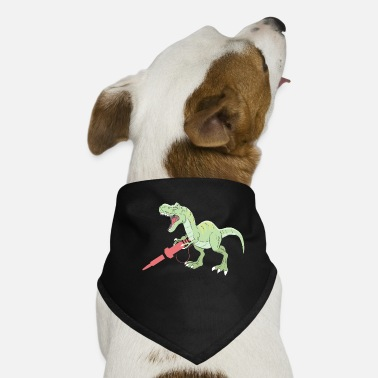 Soldering Iron Dinosaur with a soldering iron - Dog Bandana