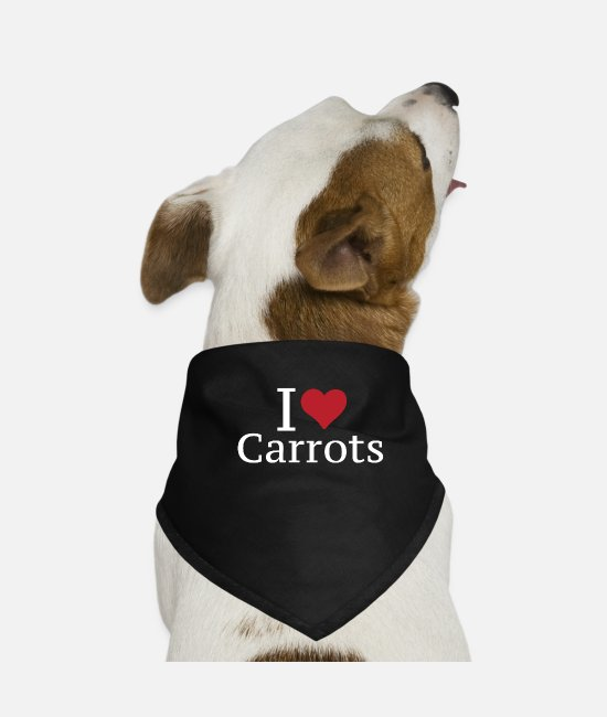 Vegetables Bandanas - I love carrots carrot - Dog Bandana black