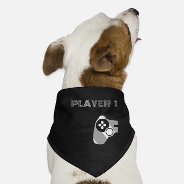 Game Over Player 1 Gamer 2 Konsole Controller Team Geschenk - Hunde-Bandana