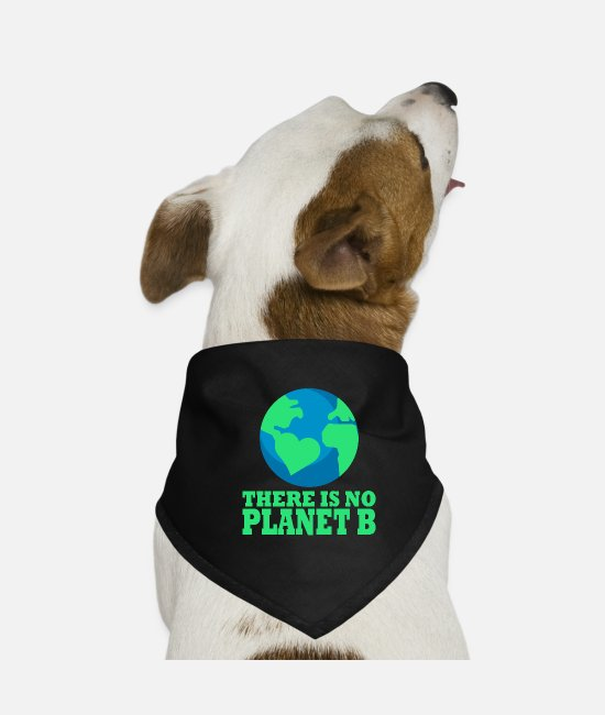 Fridays For Future Bandanas - There is no Planet B environmental protection climate protection - Dog Bandana black