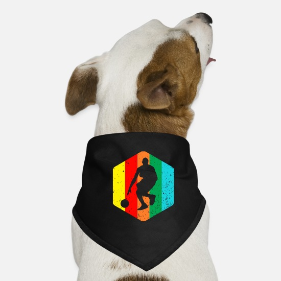 Basket Bandanas - Dribbling basketball - Dog Bandana black