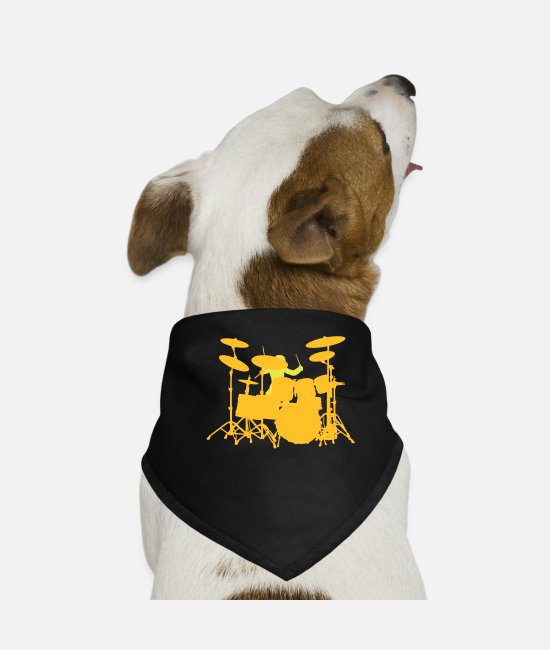 Pearl Bandanas - Drums - Dog Bandana black