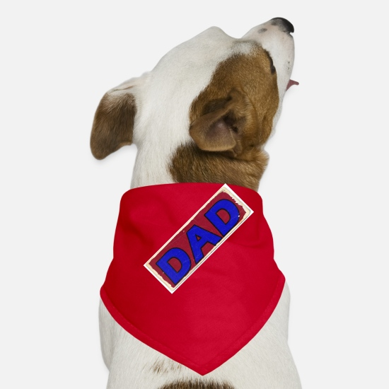 Dad Bandanas - DAD - Dog Bandana red