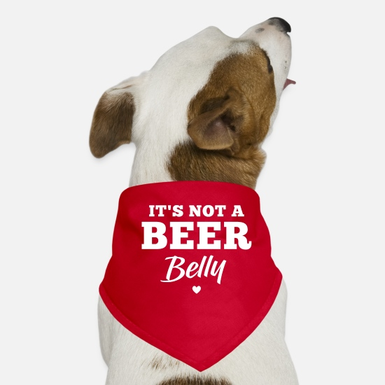 Surprise Bandanas - It's Not A Beer Belly - Pregnancy Pregnancy - Dog Bandana red