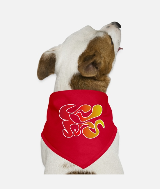 Heat Bandanas - fire wave - Dog Bandana red