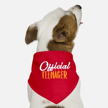 Teen Official Teenager - Teens Teen Teenie Geschenk - Hunde-Bandana