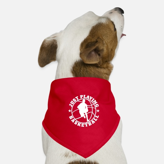 Basketball Bandanas - Just Playing Basketball white - Hunde-Bandana Rot