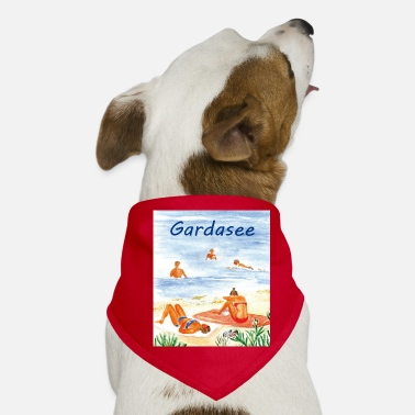 Lake Garda Lake Garda on the beach - Dog Bandana
