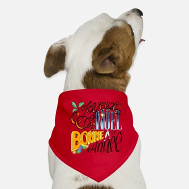 Merry Christmas and Happy New Year - Vintage Lettering - Dog Bandana