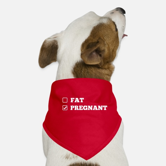 Gift Idea Bandanas - Gift for a woman in pregnancy - Dog Bandana red