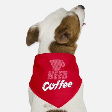 Peetoom Need Coffee - Dad & Son Funny Matching - Honden-bandana