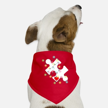 Awareness Puslespil Julepynt Autism Awareness - Bandana til din hund