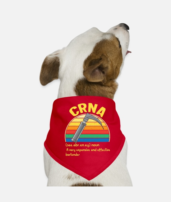 Medicine Bandanas - CRNA Week Definition Expensive Effective - Dog Bandana red