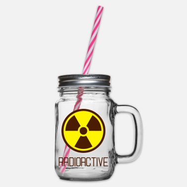 Radioactive radioactive - Glass jar with handle and screw cap