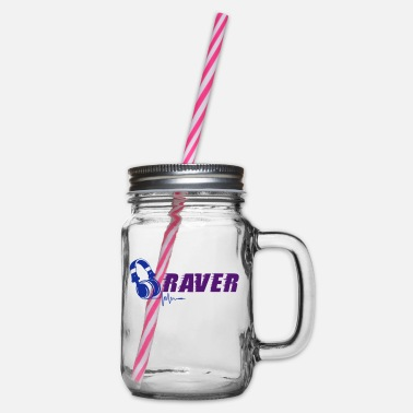 Raver Raver - Glass jar with handle and screw cap