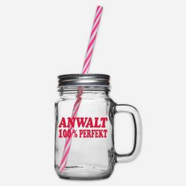 Anwalt Anwalt perfekt - Glass jar with handle and screw cap