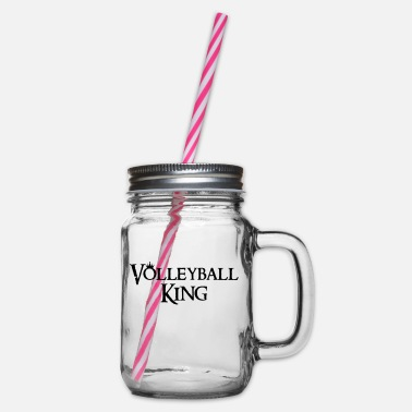 VolleyballFREAK Volleyball King M - Henkelglas mit Schraubdeckel