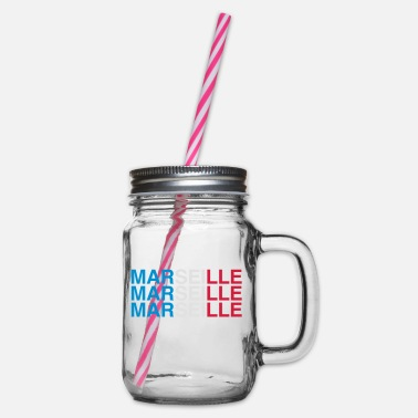 Marseille MARSEILLE - Glass jar with handle and screw cap