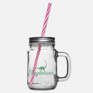Vegetarian Vegetarian - Vegetarian - Vegetarian - Glass jar with handle and screw cap