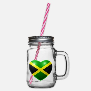 Jamaica Heart (Jamaica / Jamaica) - Glass jar with handle and screw cap