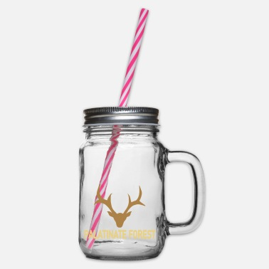 Wild Palatina deer - Glass jar with handle and screw cap