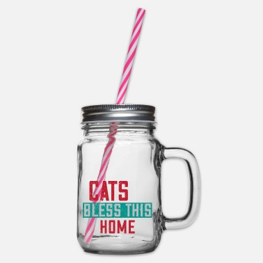 Scratch Cat Cats Cat Lover Hangover Gift 20 - Glass jar with handle and screw cap