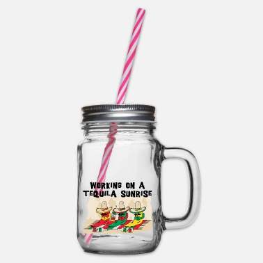 Tequila Sunrise Tequila Sunrise - Glass jar with handle and screw cap