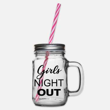 Girls Night Girls Night Out - Boccale con coperchio avvitabile