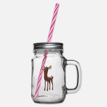 Rudolf Rudolf - Glass jar with handle and screw cap