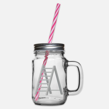 Ladder ladder - Glass jar with handle and screw cap